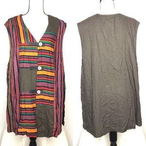 Carole Little Colorful Unique Vest Sz 18